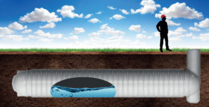 Image showing stormVAULT stormwater management tank under the ground.